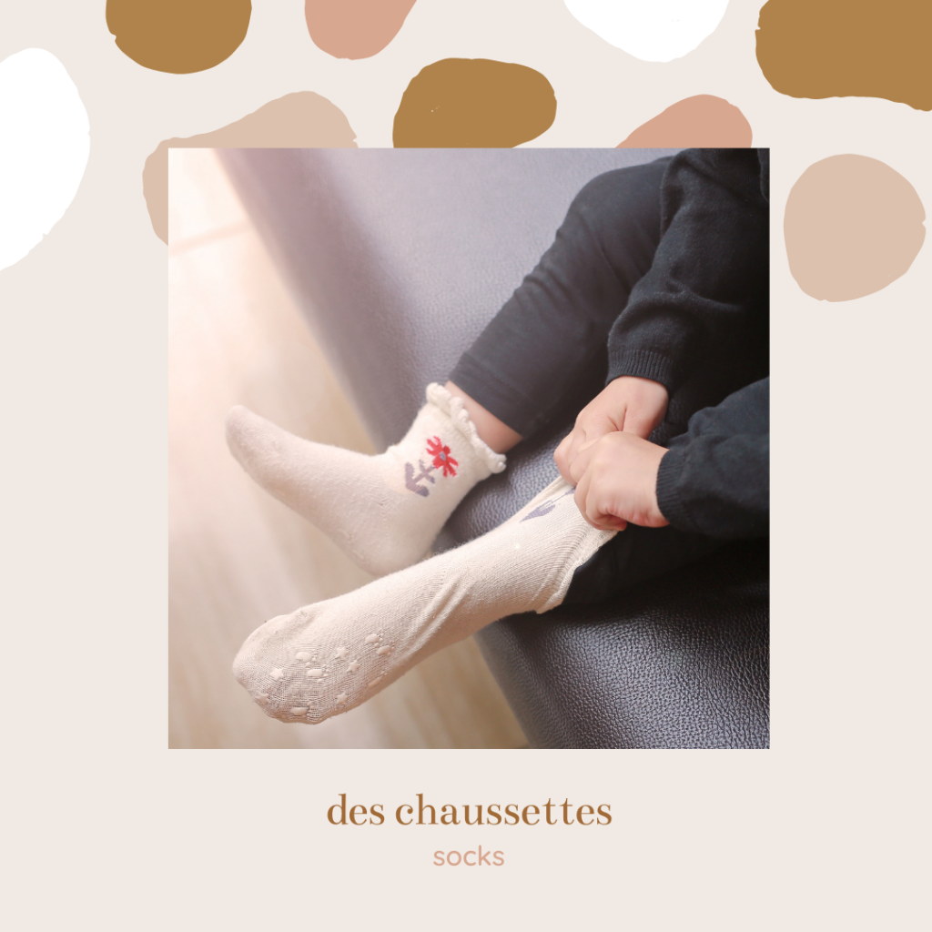 french clothing vocabulary - socks