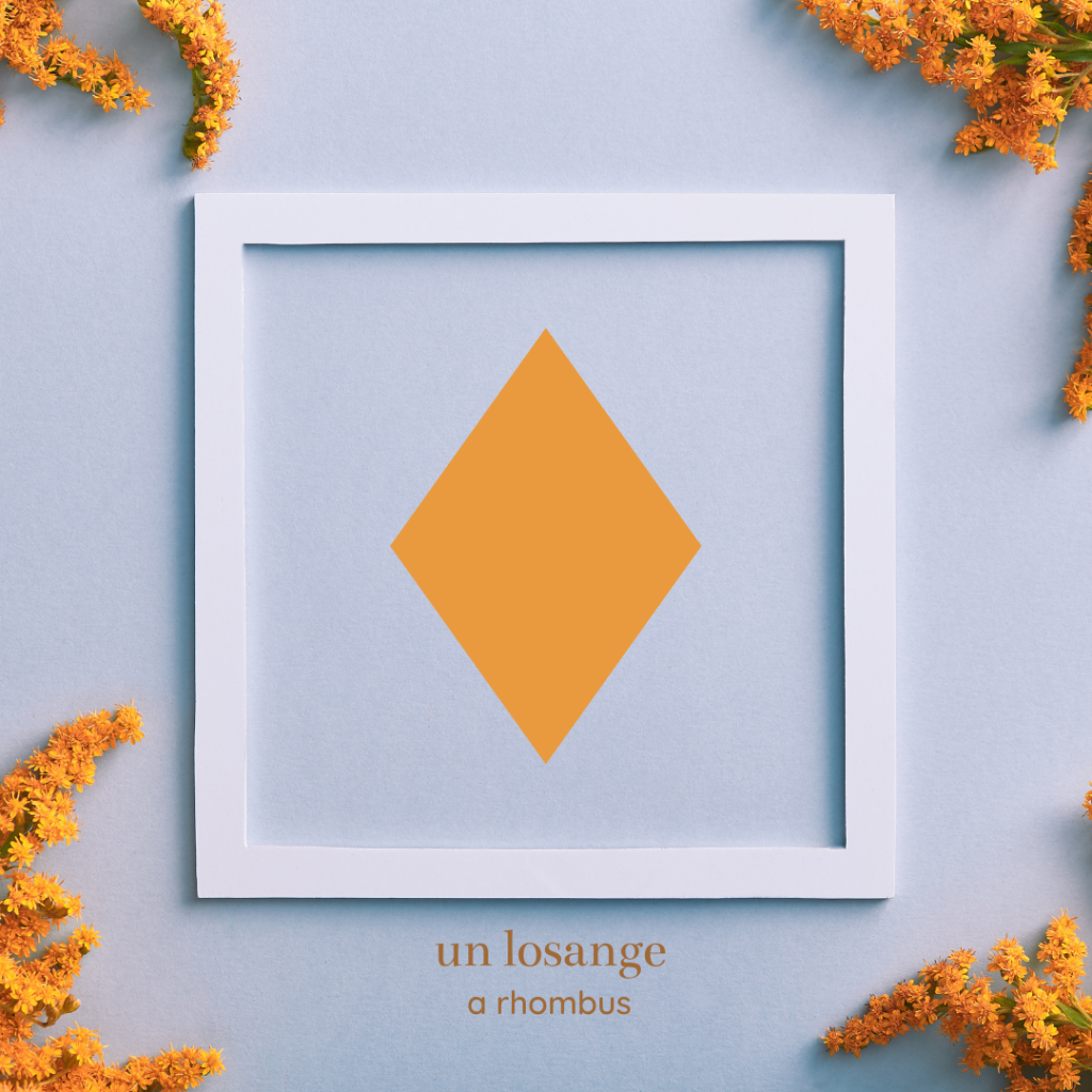 shapes in french - rhombus