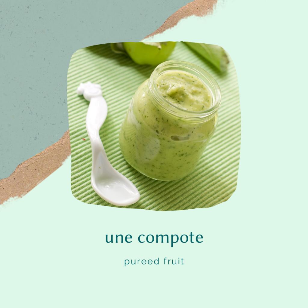 french food vocabulary - pureed fruit