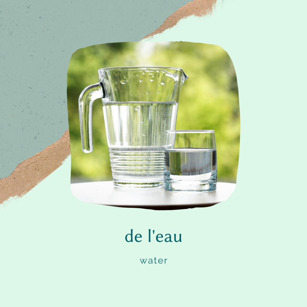 french food vocabulary - pureed water