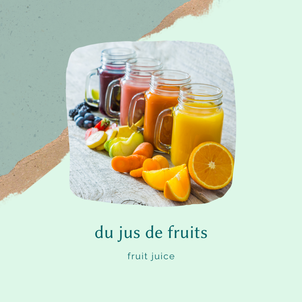 french food vocabulary - pureed juice