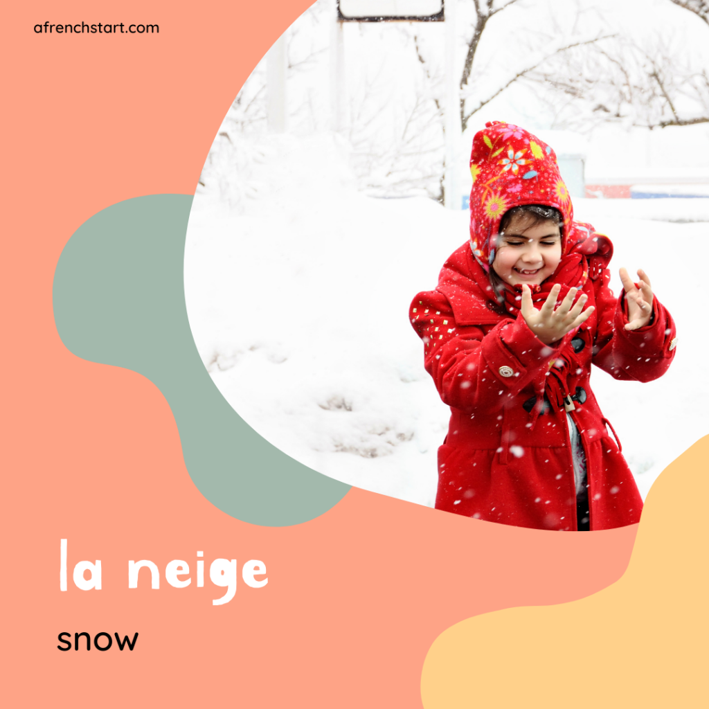 the weather in French - snowy