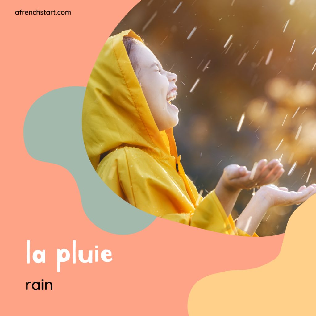 the weather in French - rainy