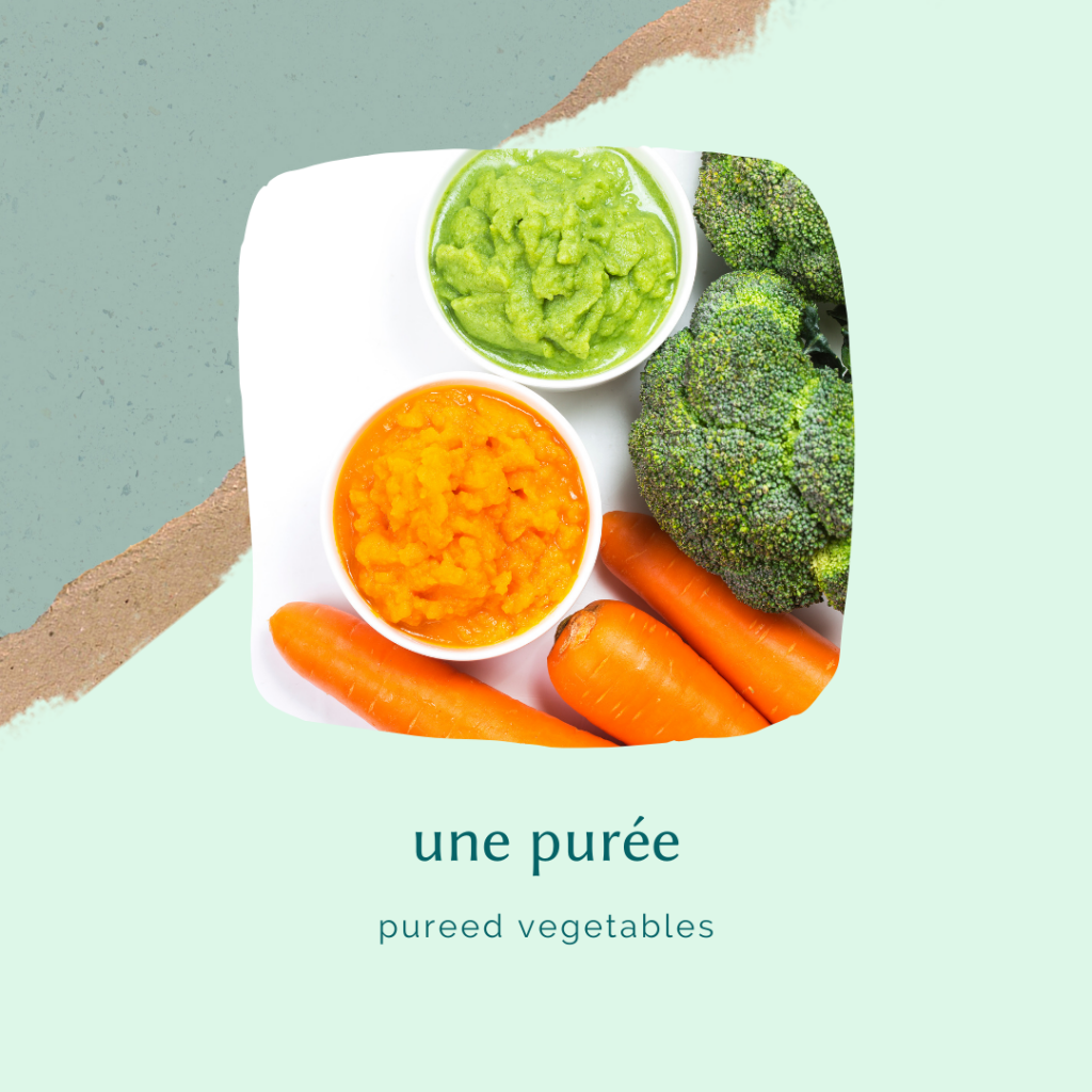 french food vocabulary - pureed veggies