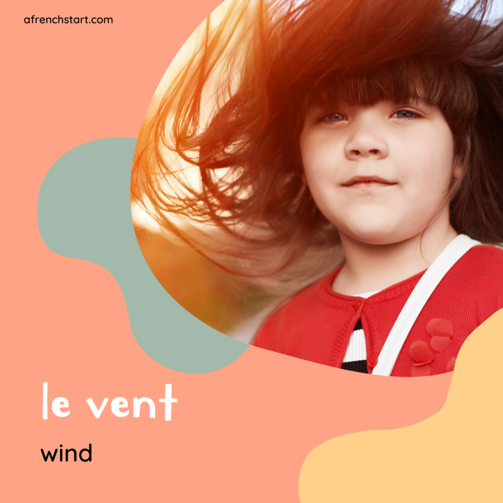 the weather in French - windy