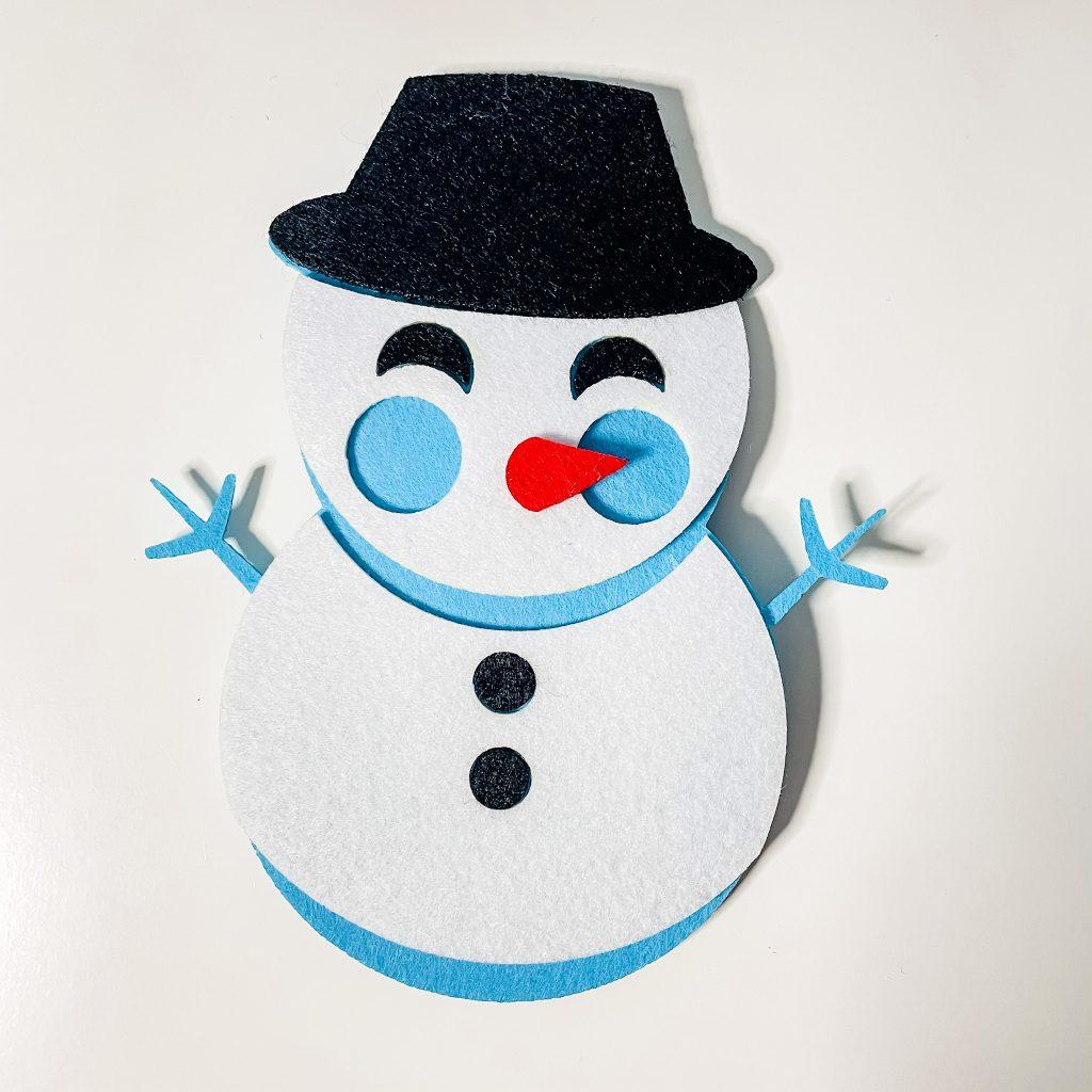 Christmas in French - snowman bonhomme de neige