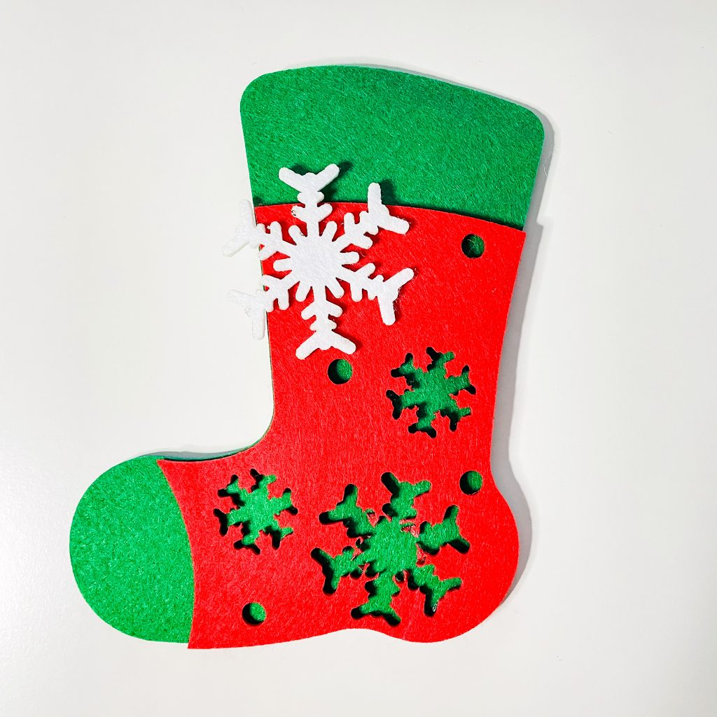 Christmas in French - Christmas stocking un bas de Noël
