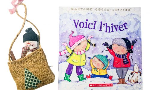 Winter in French – Voici l'hiver Scholastic book: vocabulary