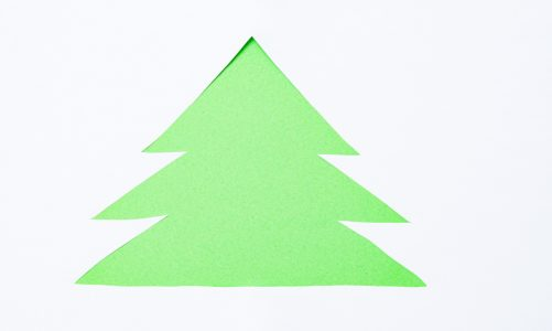 French for kids: Christmas tree craft