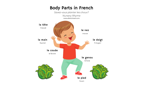 Learning body parts in French: nursery rhyme