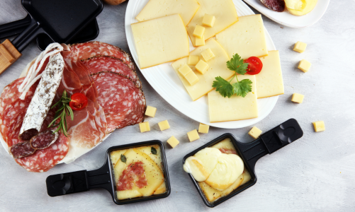 Learning French while preparing a raclette dinner with kids