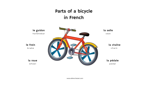 Bicycle in French: vocabulary for kids