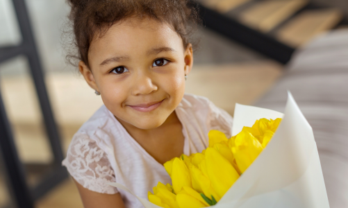 Names of flowers in French: vocabulary for preschoolers