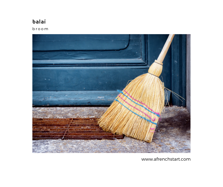 french for children spring cleaning vocabulary in french broom