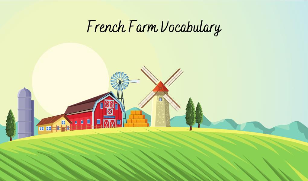 French farm vocabulary book