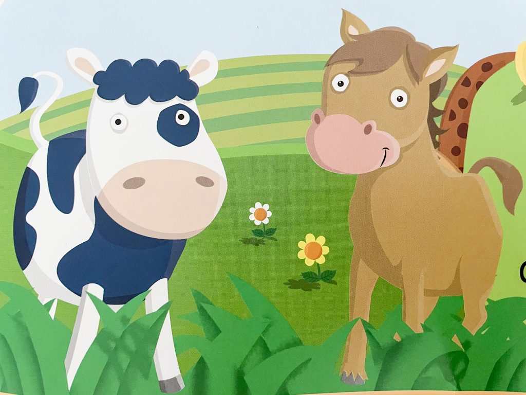 French children's book: French farm vocabulary