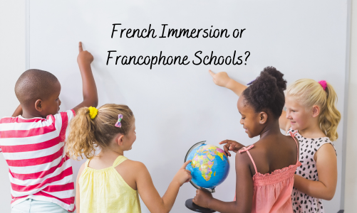 difference between french immersion and francophone schools